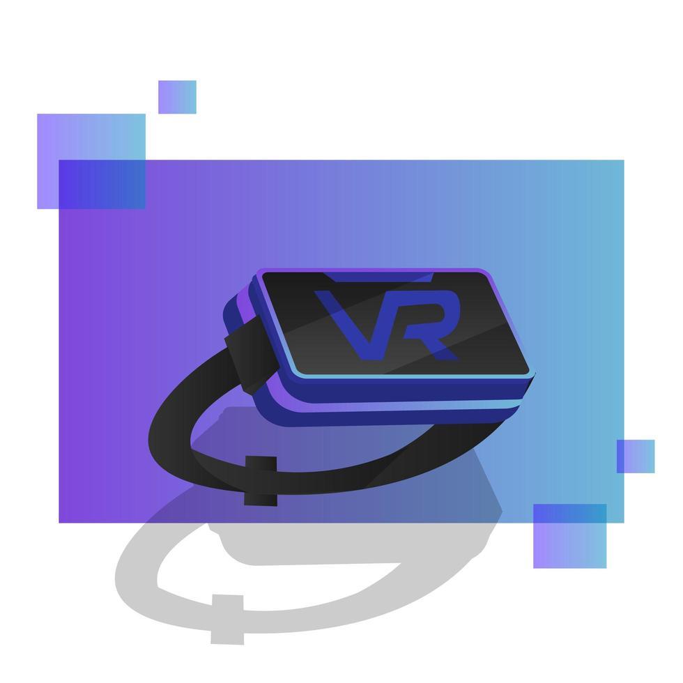 progettazione di realtà virtuale isometrica vettore