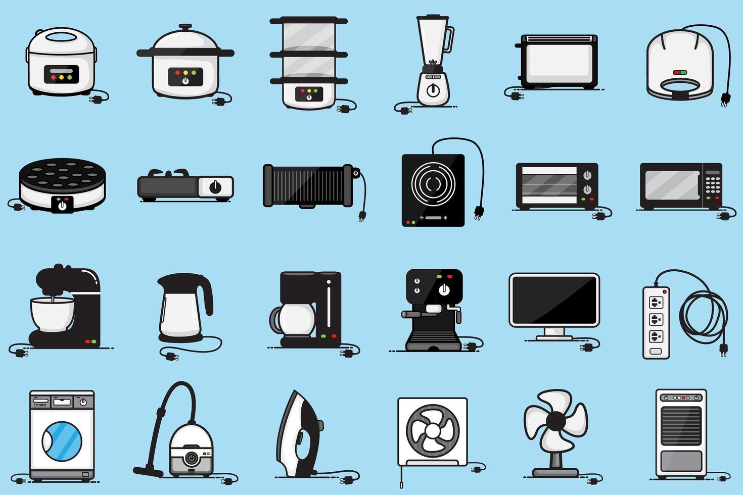 gruppo elettrodomestici vettore