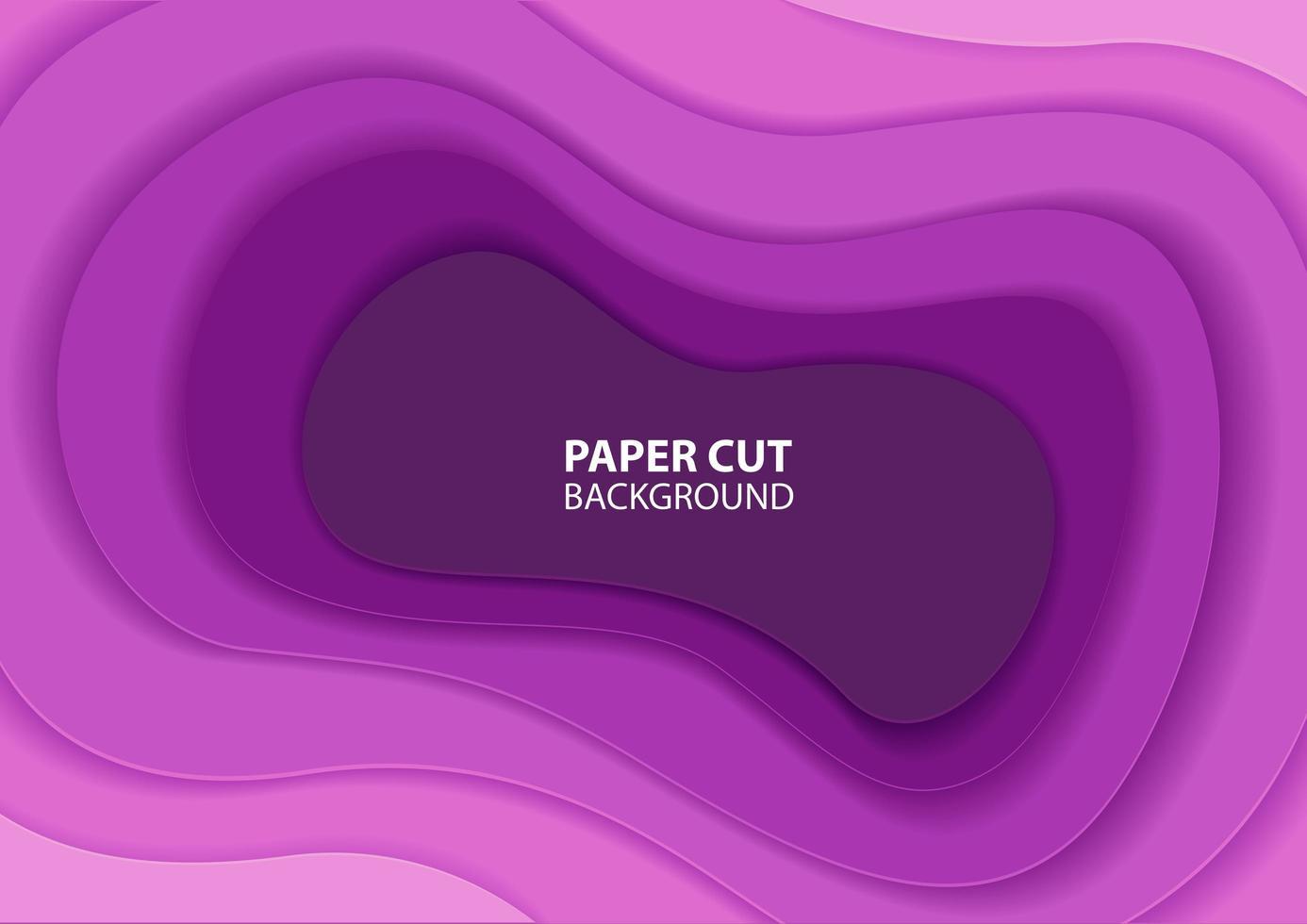 disegno a strati di carta tagliata viola sfumato vettore