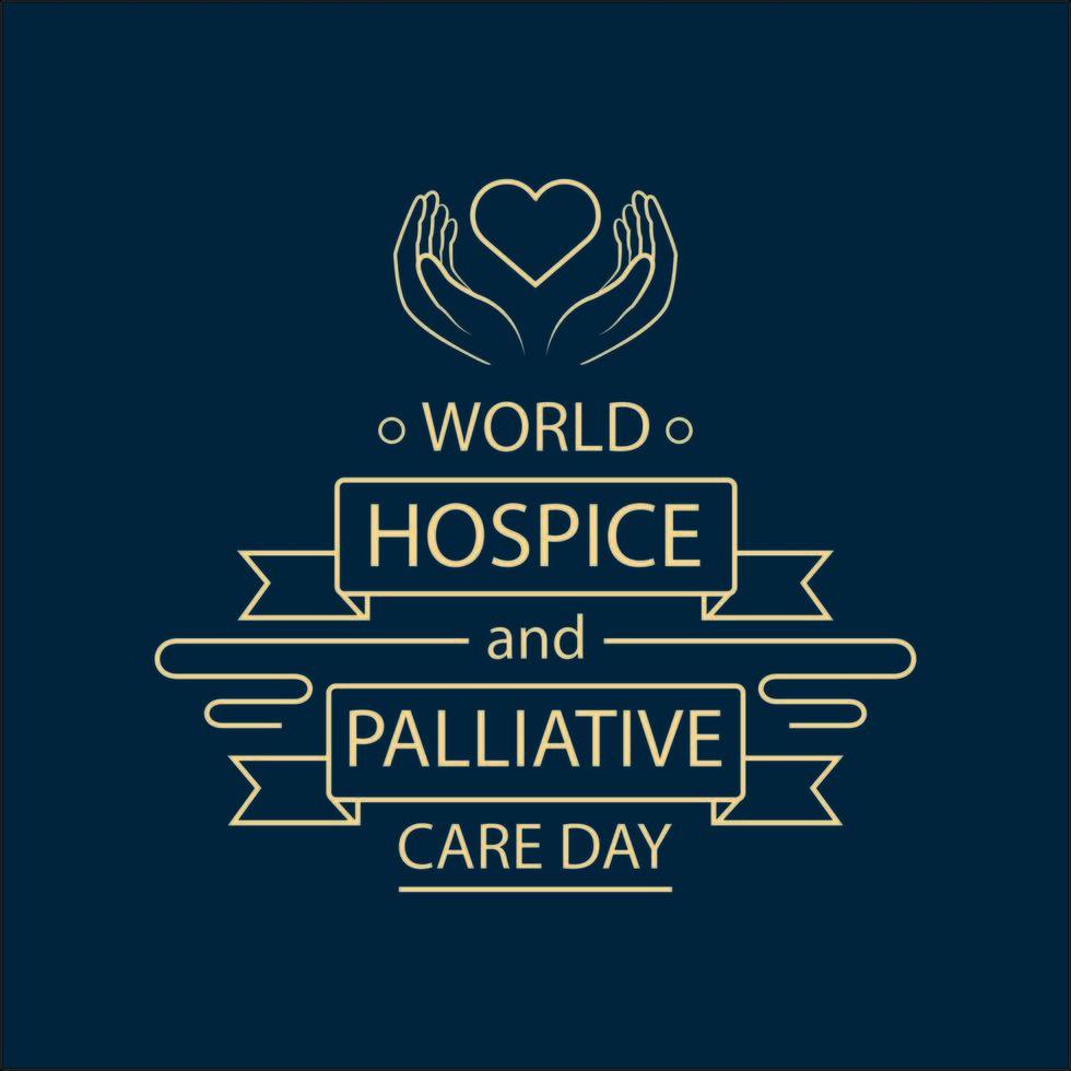 poster della giornata mondiale delle cure palliative e dell'hospice vettore