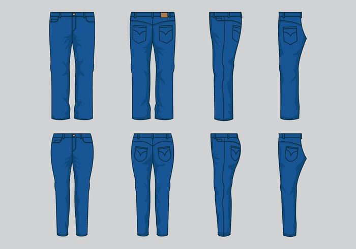 vettore blu del jean