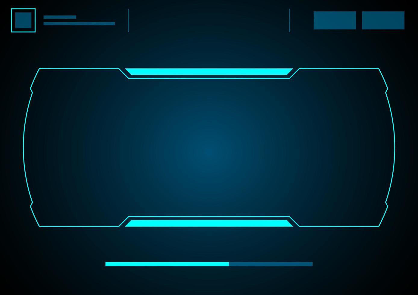 interfaccia futura del pannello di controllo del gioco hud vettore