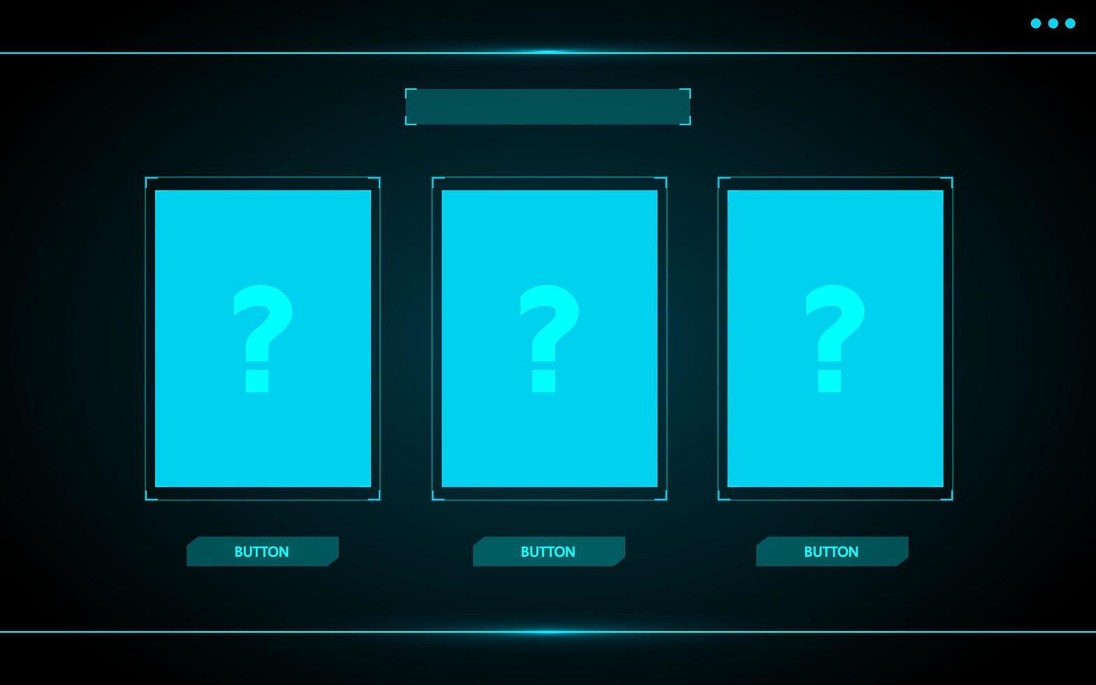 scegli un'interfaccia utente di gioco di carte hud vettore