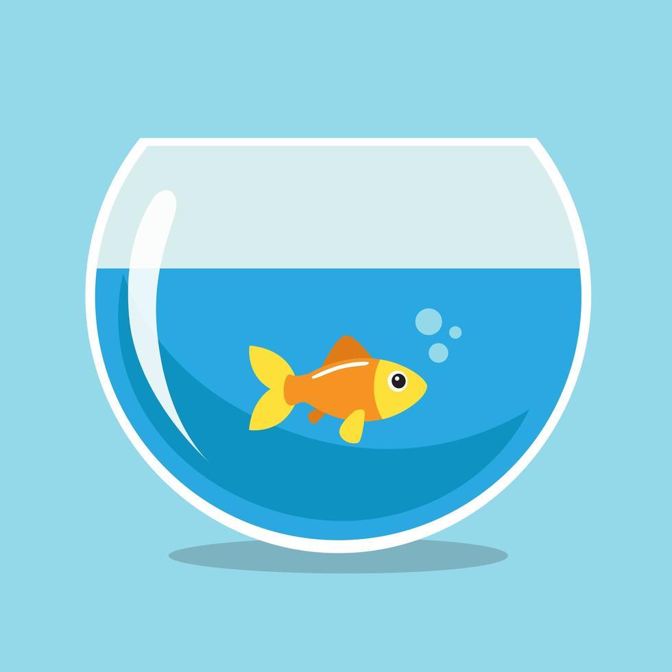 pesce d'oro in un bowlfish vettore