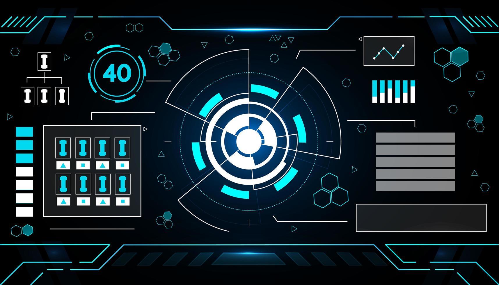 design futuristico della tecnologia dell'interfaccia vettore