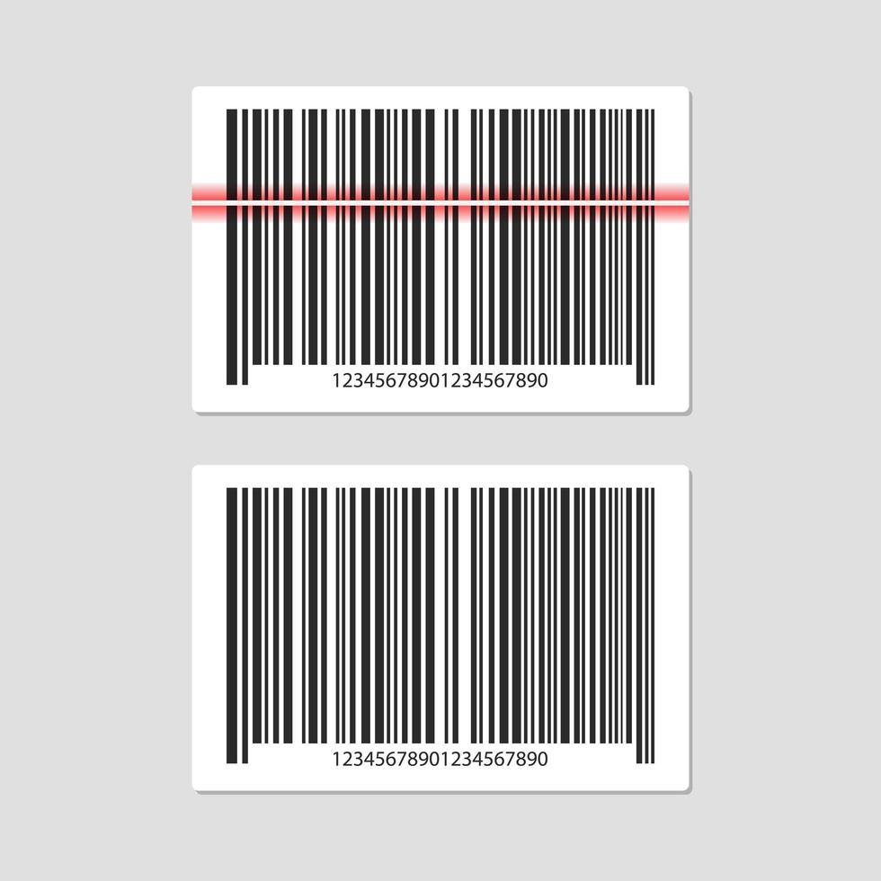 codice a barre impostato su grigio vettore