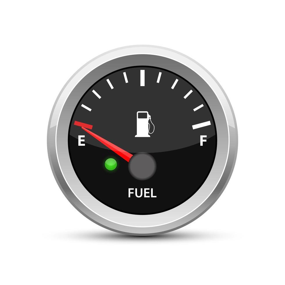 indicatore livello carburante a vuoto vettore