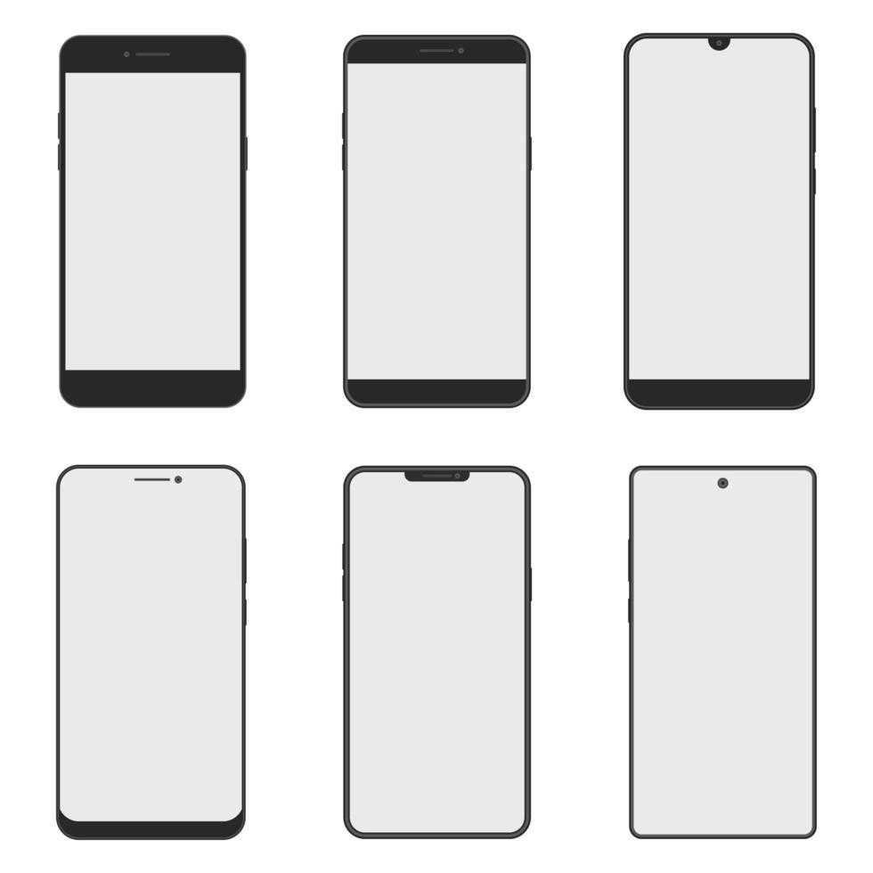 set di diversi smartphone vettore