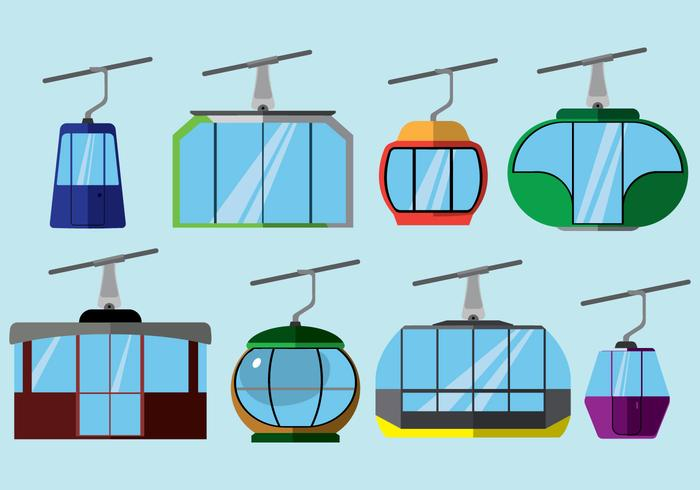 Icone gratis funivia vettore
