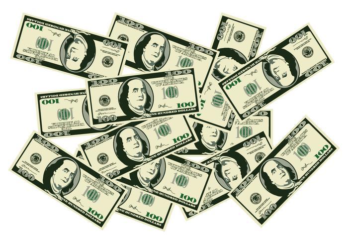 Una pila di soldi vettore