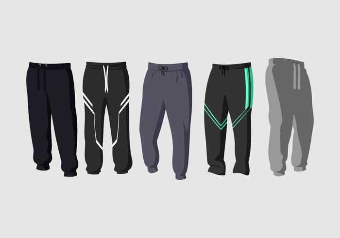 Pantaloni della tuta vettoriali gratis