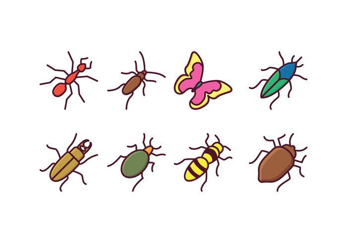 Icone di insetti vettore