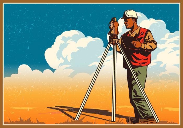 Ingegnere edile Surveyor vettore