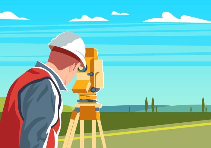 Ingegnere Surveyor vettore