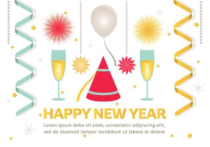 Felice anno nuovo sfondo vettoriale
