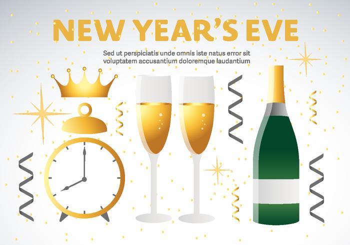 Felice anno nuovo decorazioni vettoriali