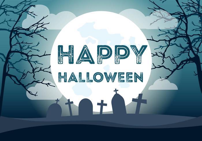 Felice illustrazione di Halloween vettore