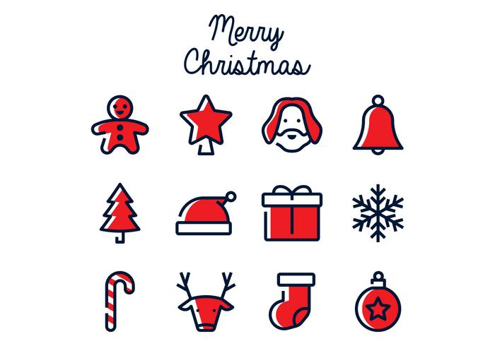 Icona di Natale lineare vettore