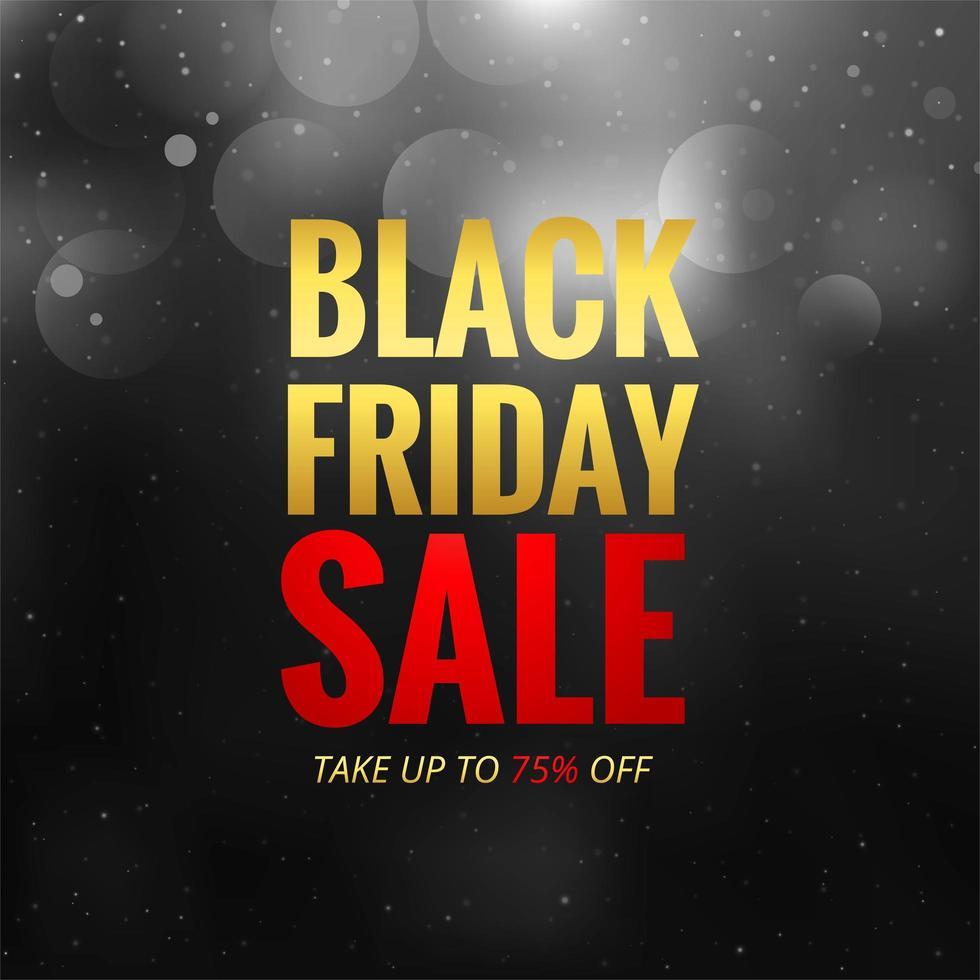 vendita venerdì nero nero con sfondo bokeh vettore