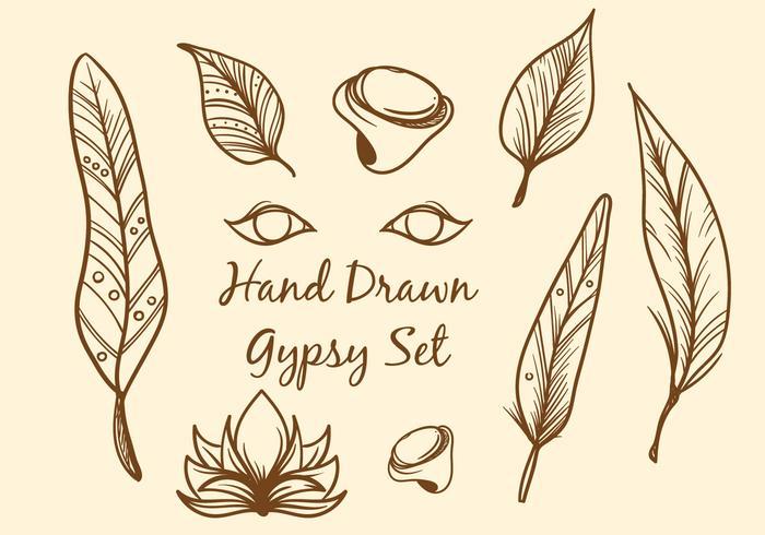 Boho vettoriale disegnato a mano libera