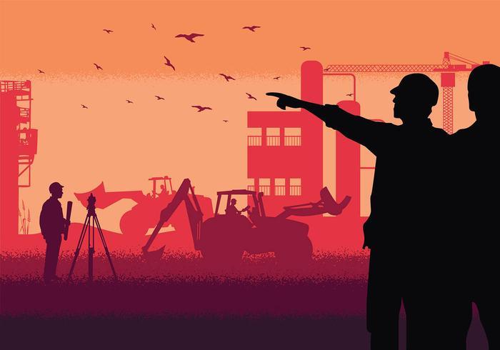 Surveyor Silhouette vettoriali gratis