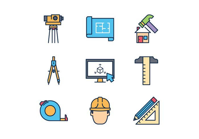 Icone di architetto gratis vettore