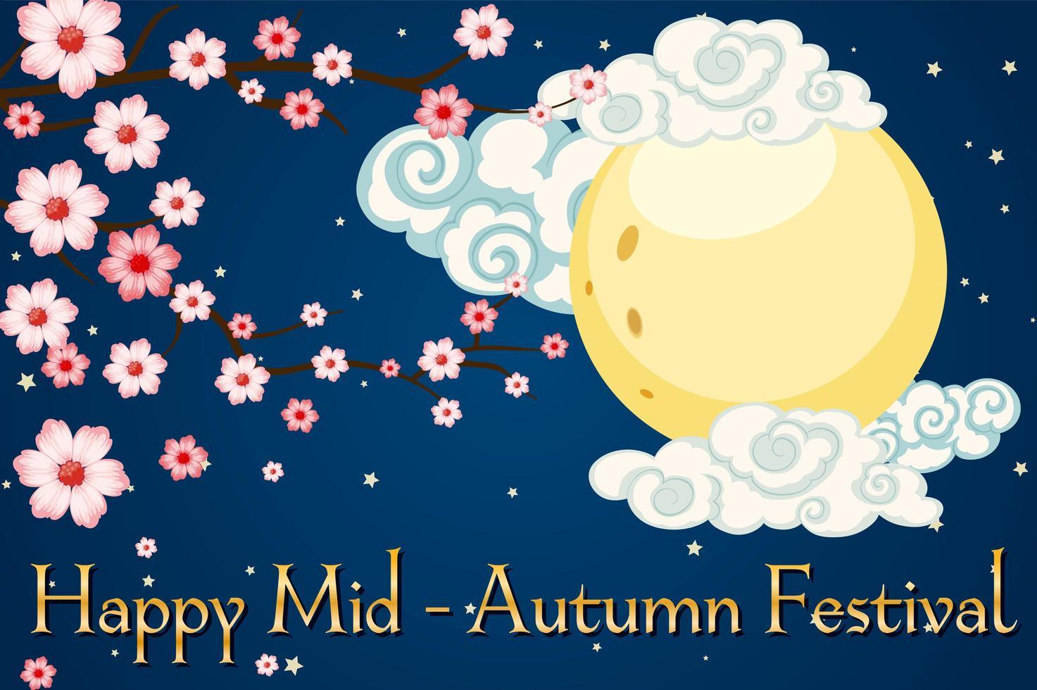 sfondo banner festival di metà autunno vettore