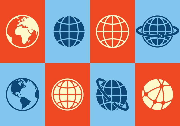 Icone del globo vettore