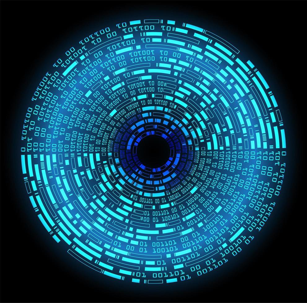 blue eye cyber circuito futuro tecnologia sfondo vettore