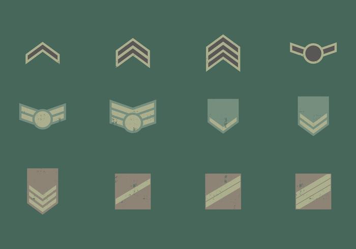 Simboli distintivo militare vettore