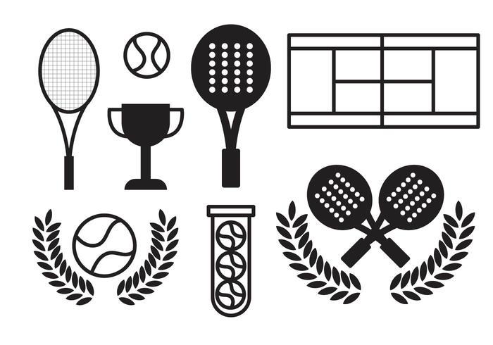 vettore di padel tennis