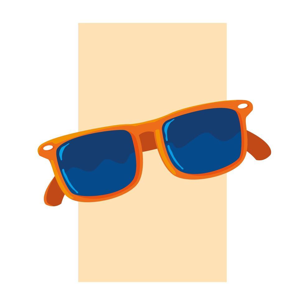 design di occhiali estivi e rossi vettore