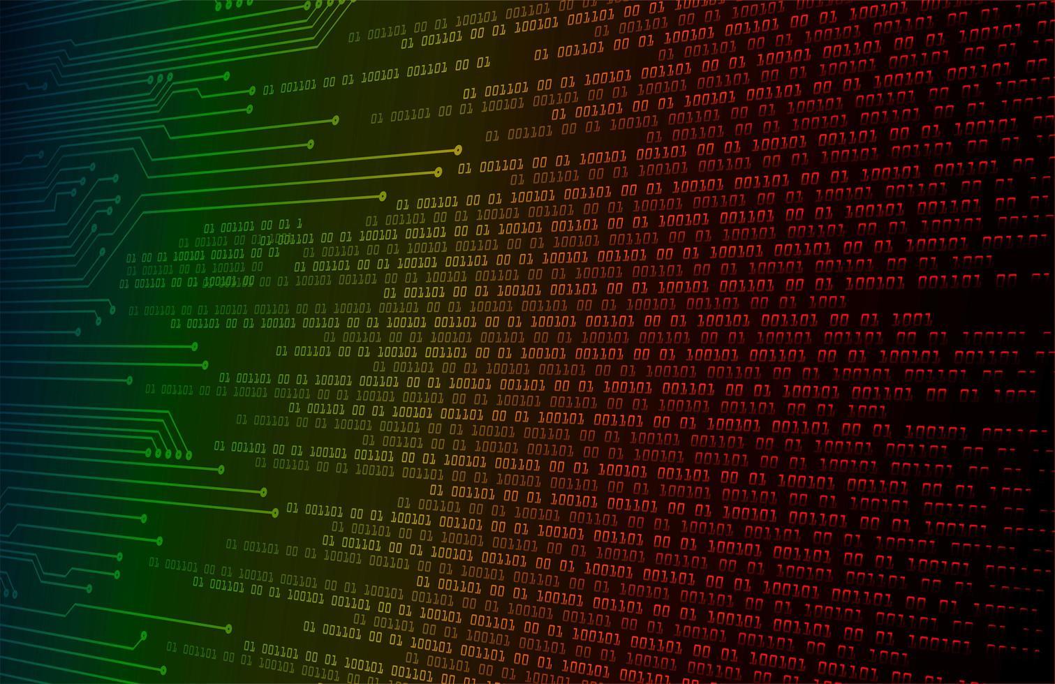 sfondo di concetto di tecnologia del futuro circuito cyber colorato vettore