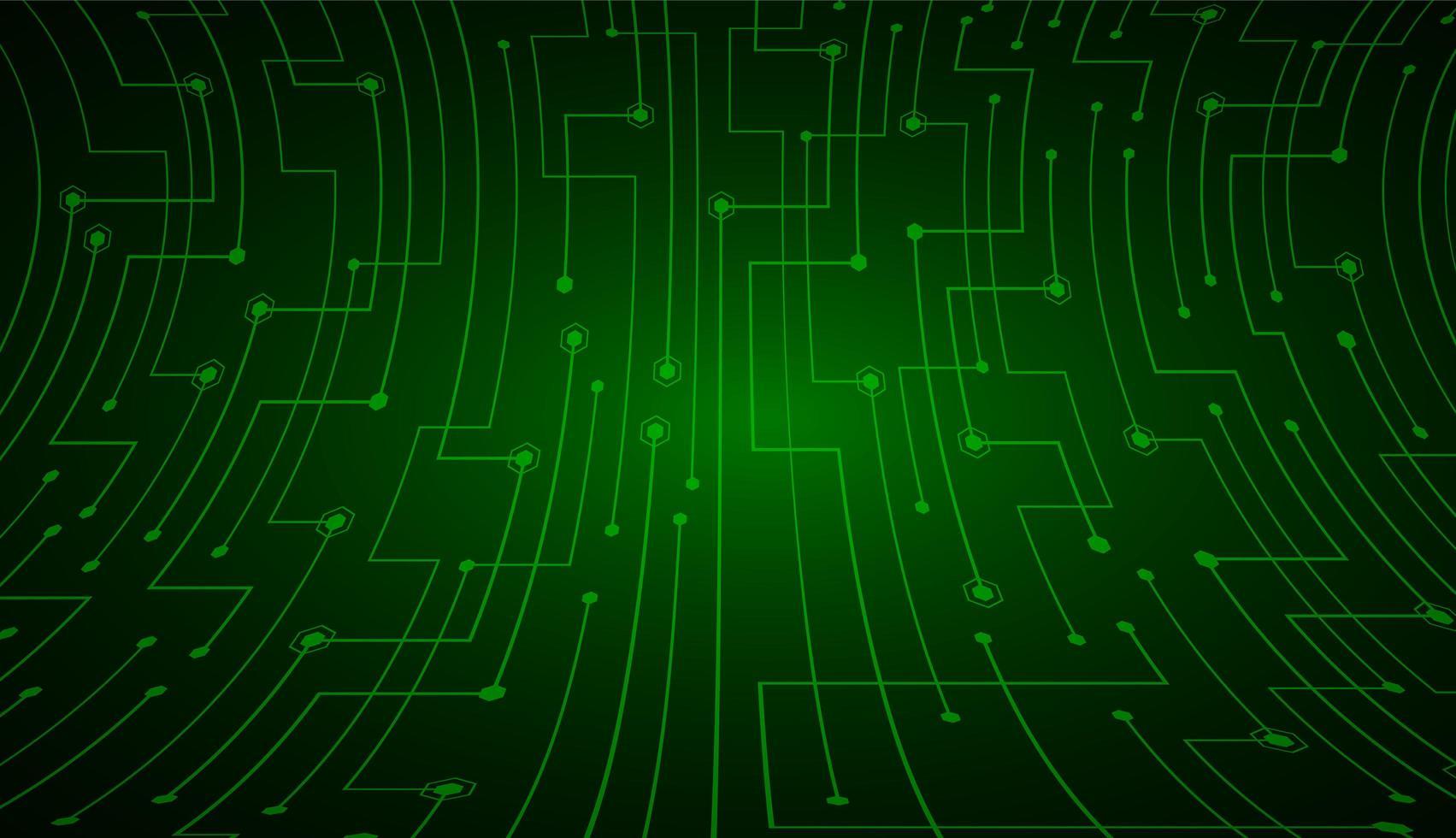priorità bassa di concetto di tecnologia del futuro circuito cyber verde vettore