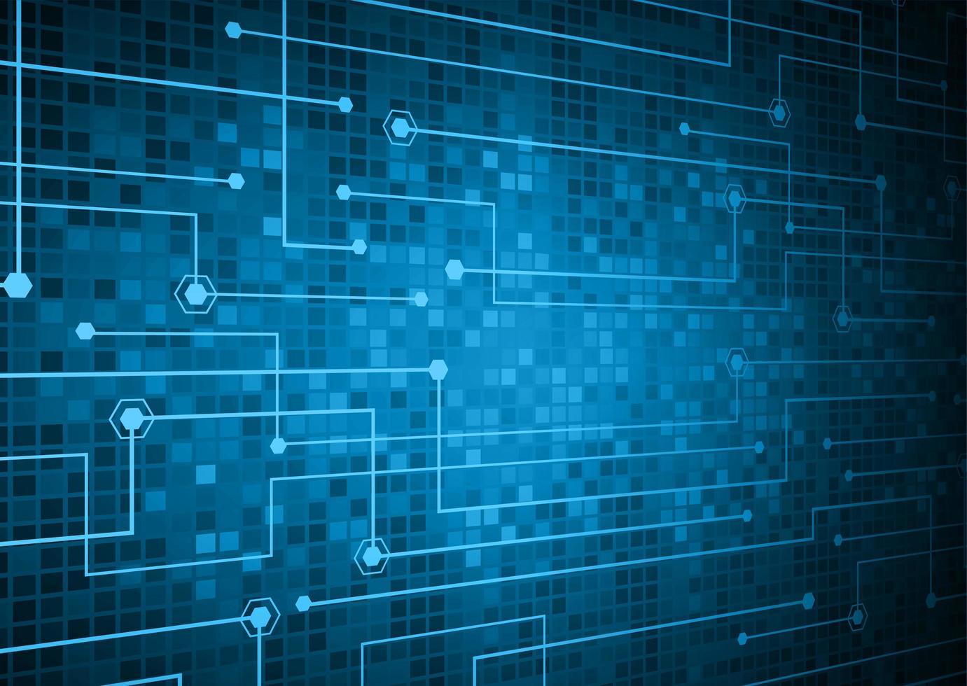 sfondo blu tecnologia del circuito cyber futuro vettore