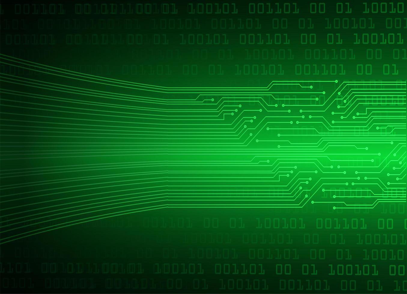 sfondo tecnologia futura del circuito cyber verde vettore