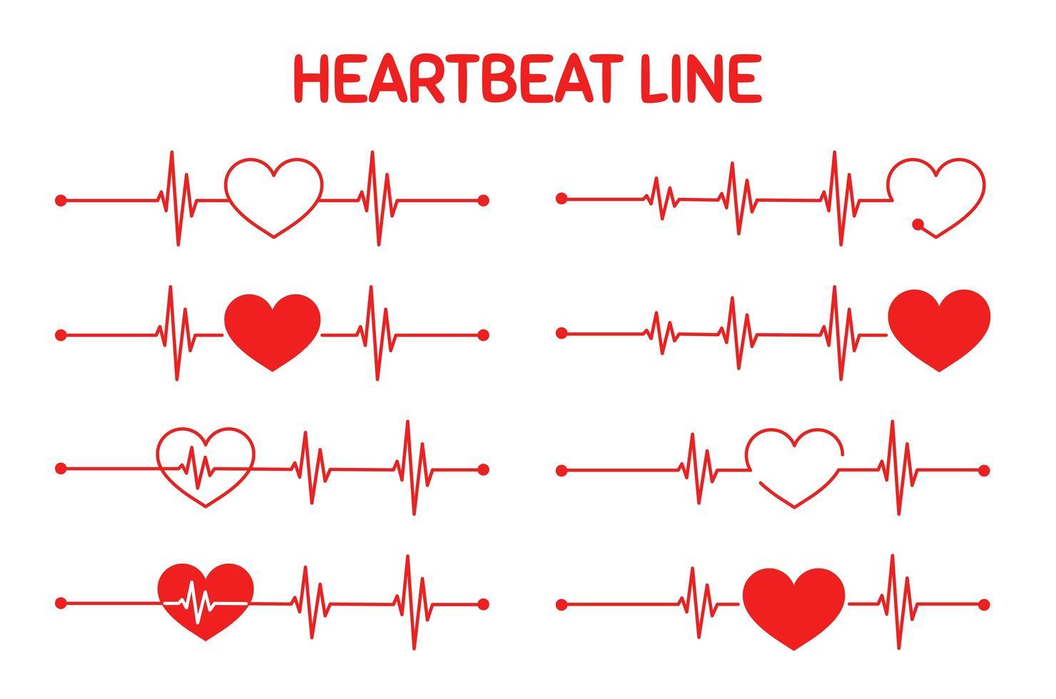 grafico rosso della frequenza cardiaca durante l'allenamento vettore