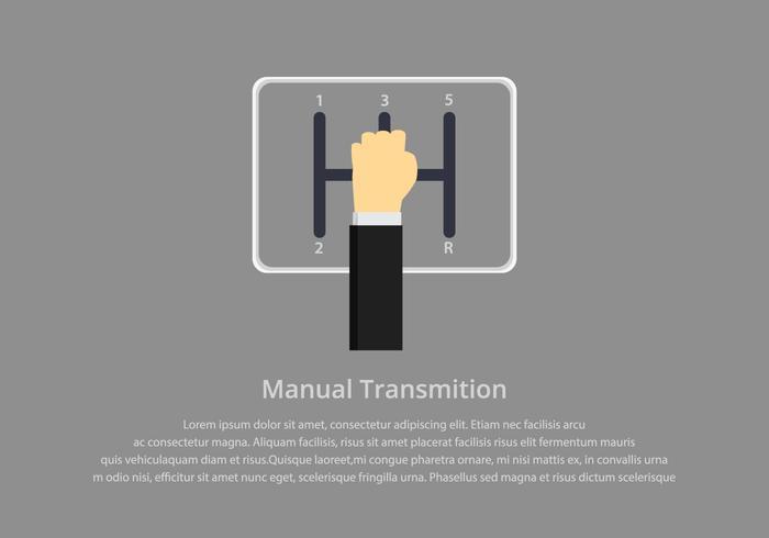 Modello di illustrazione manuale Gear Shift vettore