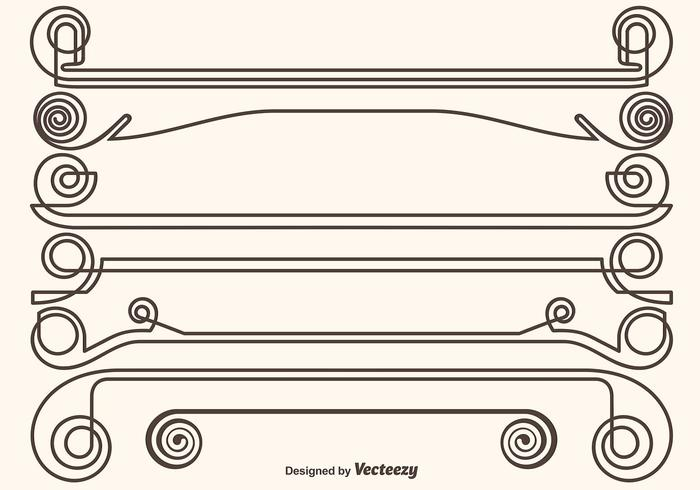 Set di divisori ornamentali vettore