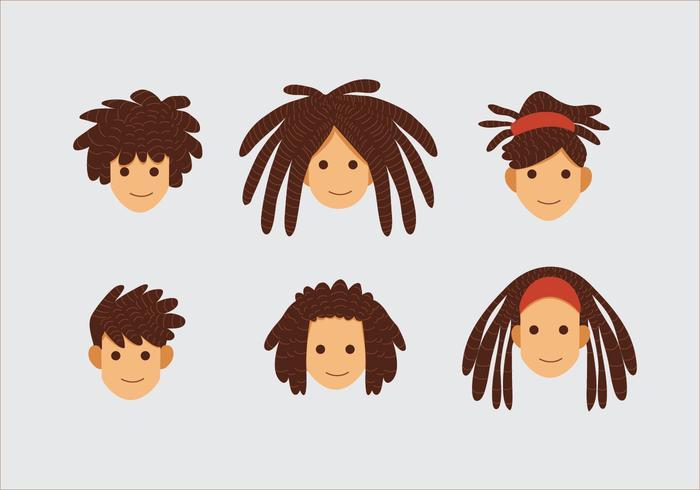 teme lo stile dei capelli vettore