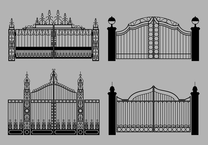 vettore di cancello aperto