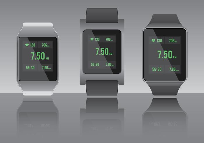 App per la frequenza cardiaca Smartwarch Fitness vettore