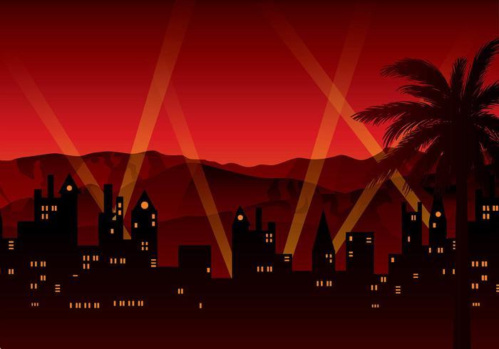 Vettore libero del fondo della luce rossa di Hollywood