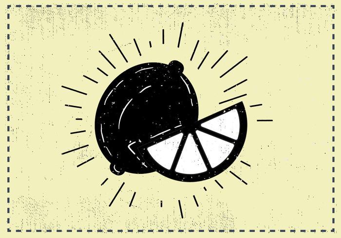 Sfondo di frutta limone disegnato a mano libera vettore