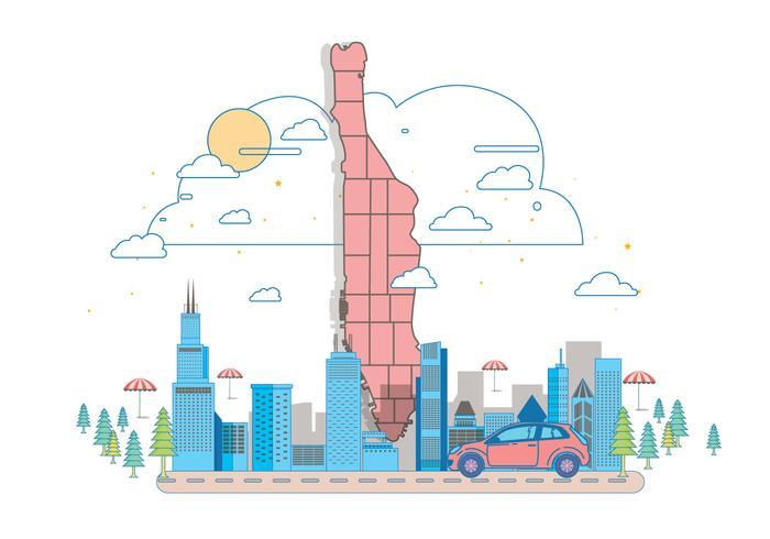 vettore della mappa 2 di Manhattan