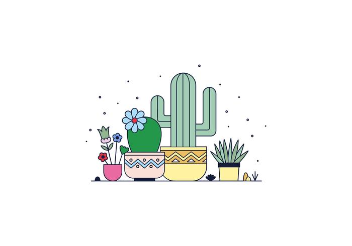 Vettore di cactus
