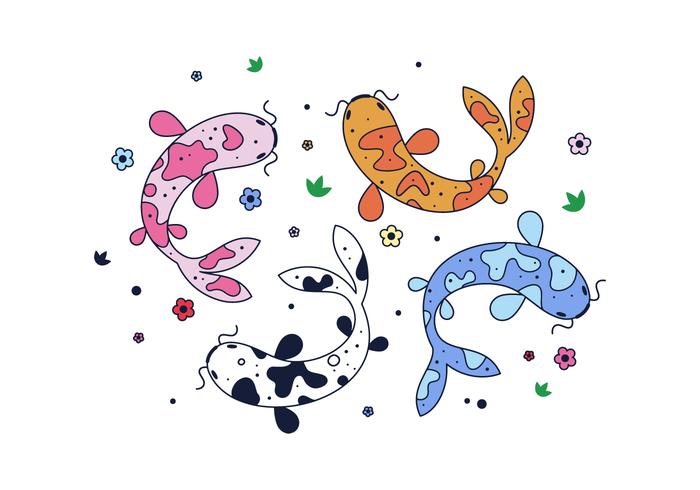 vettore di pesce koi