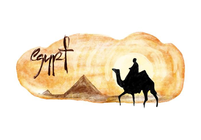 Egitto acquerello vettoriale gratuito