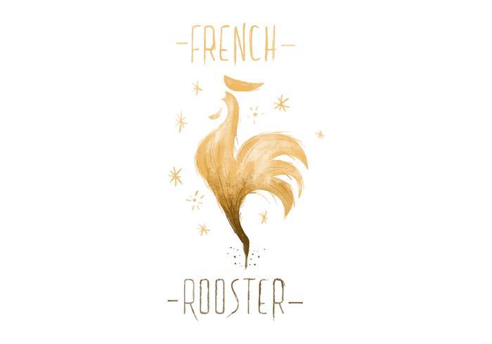 Vettore dell'acquerello del gallo francese gratuito