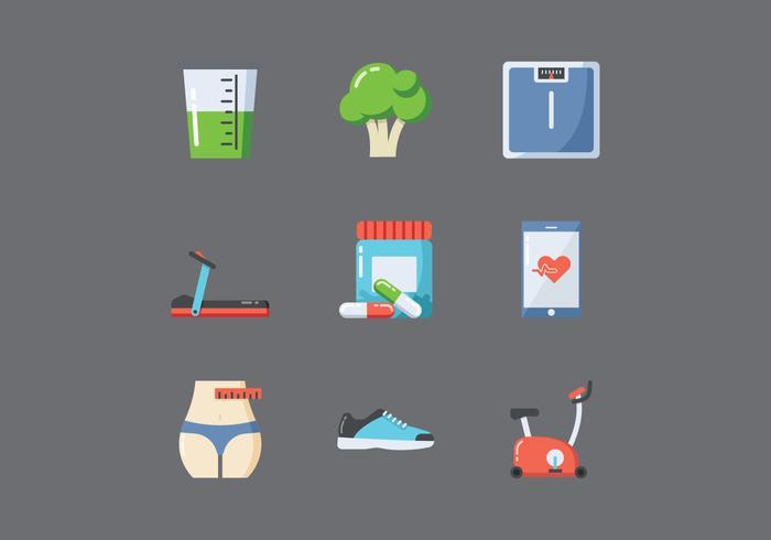 Icone di stile di vita sano gratis vettore